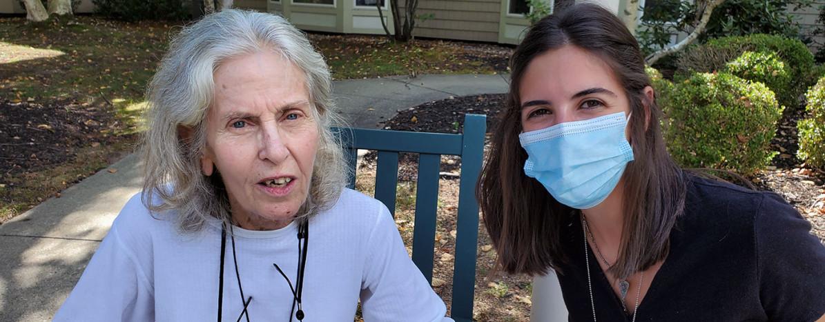 Kathy and Marisa