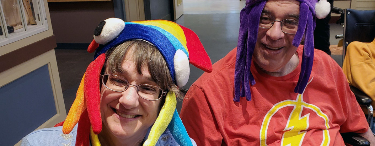Pirum Play - Residents wearing silly hats
