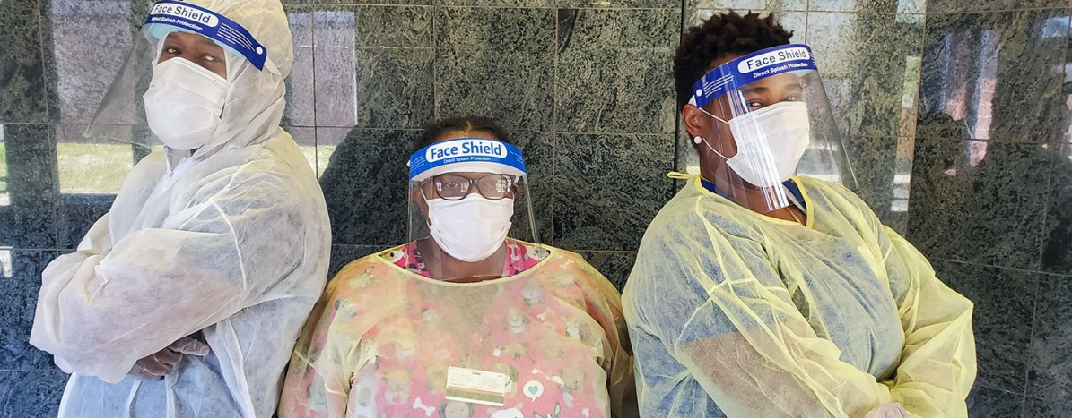 Staff in Full PPE